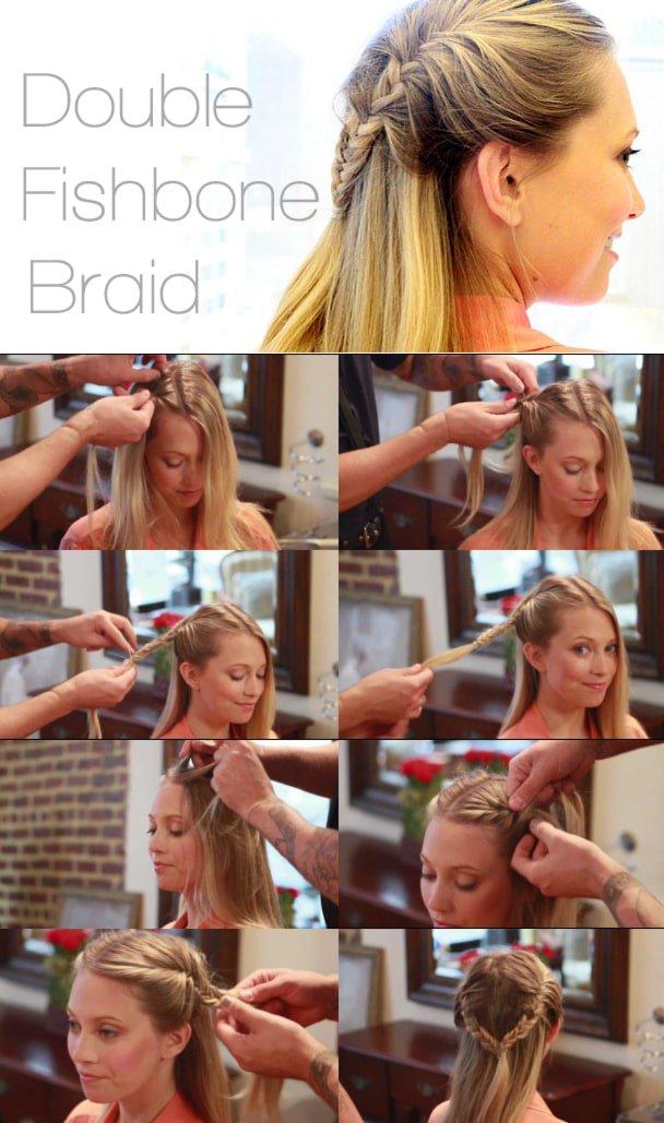 How to make a double fishbone braid