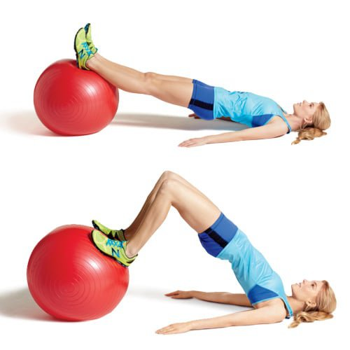 Stability-ball-curl