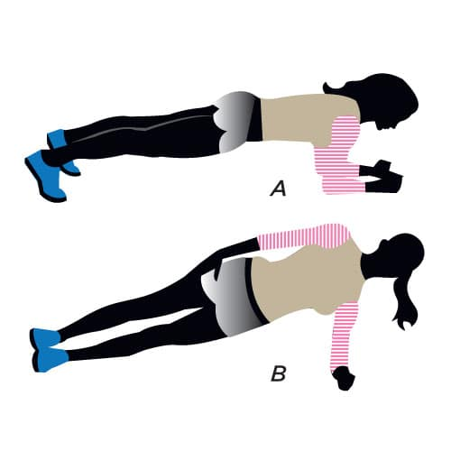 side plank for a flat belly fix