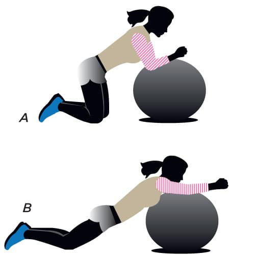 Stability ball for a flat belly fix