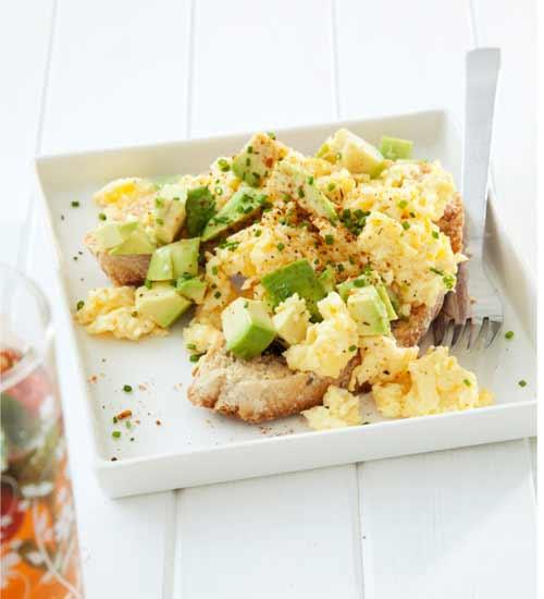 avocado scramble eggs
