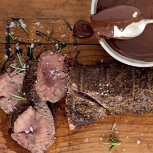 coffee-rubbed beef fillet
