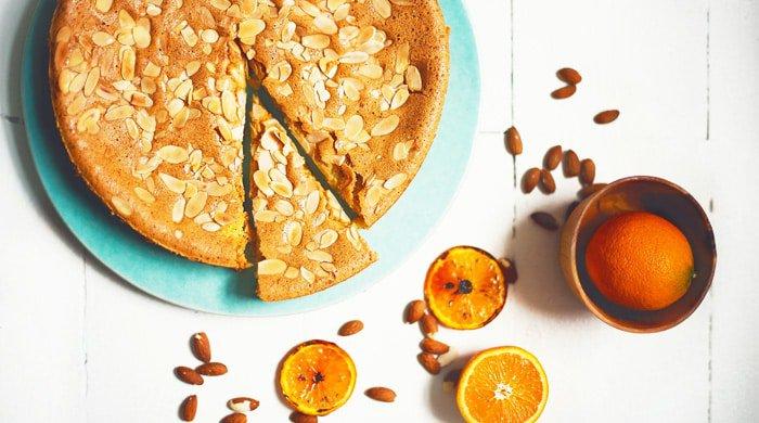 almond and orange torte