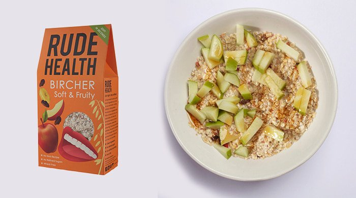 Healthy cereals like bircher museli