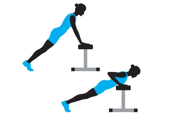 Elevated-pushup