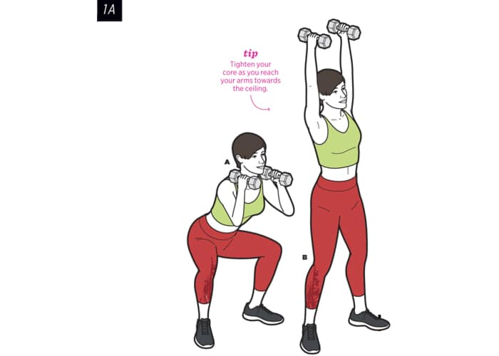 dumbbell-thruster-spring-workout