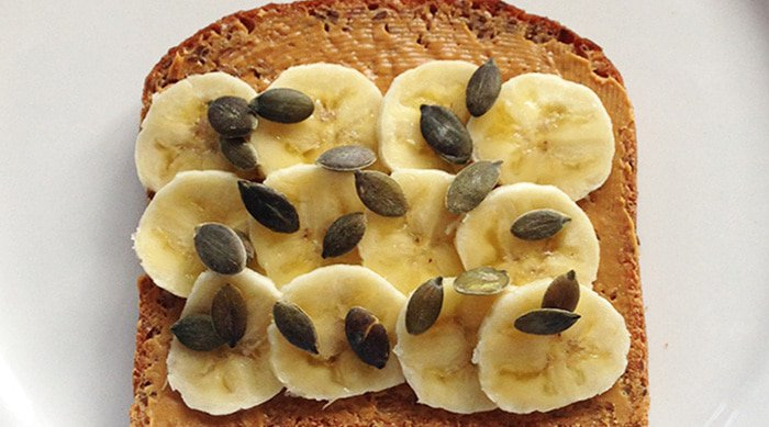 Fuel your run with foods like peanut butter toast