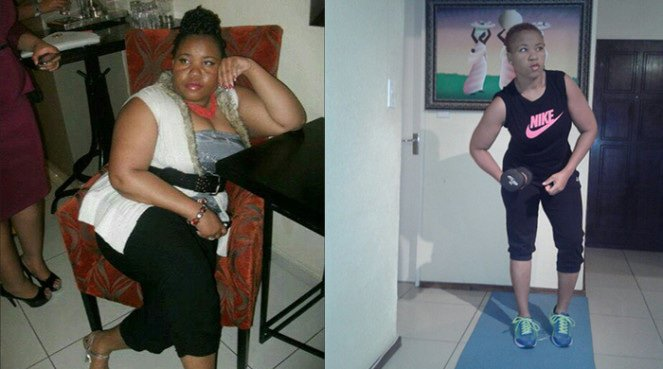 Precious' managed to lose 48kg and still ate cheat meals