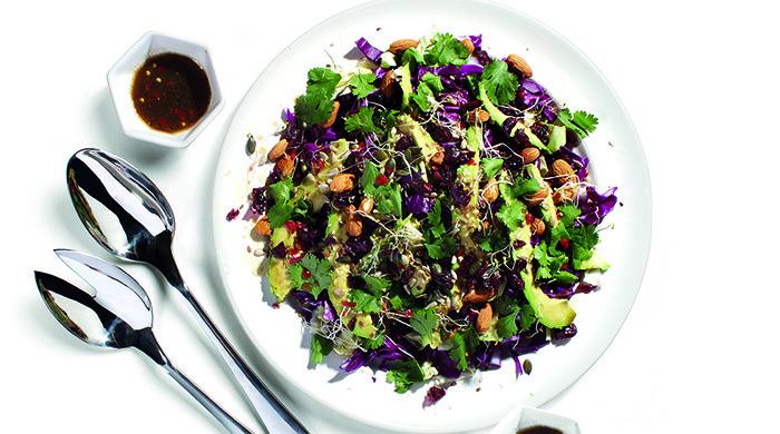 Cabbage tamari salad