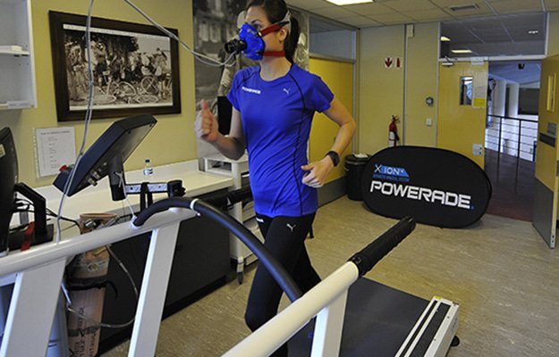 Amy Rankin taking the Vo2 Max test