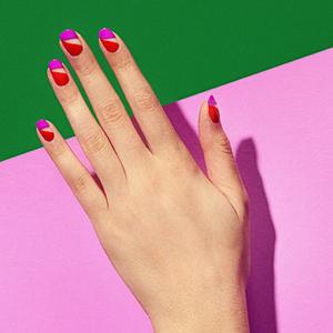 nails with nail polish on