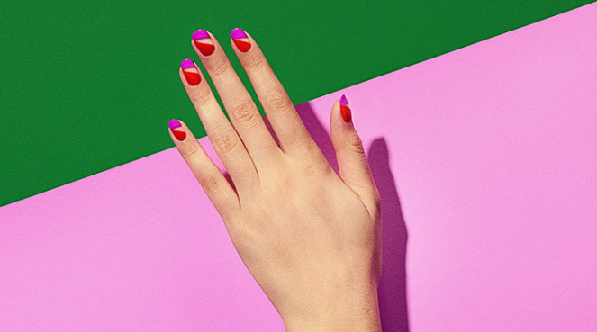 Easy nail hack for brighter tips