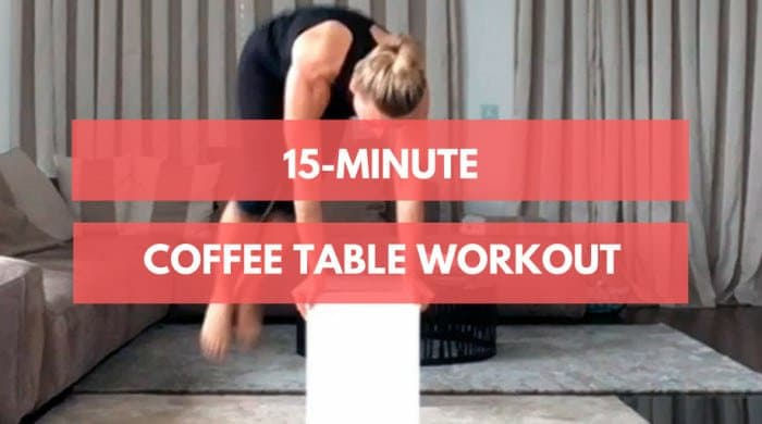 how to turn your coffee table into a gym