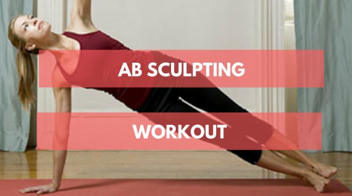 Woman doing an ab sculpt workout