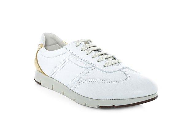 Leather low top sneaker R1399, Green Cross