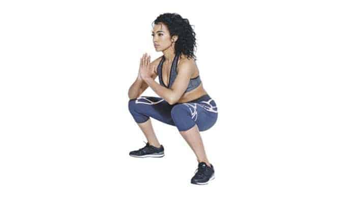 Amanda's punching squats