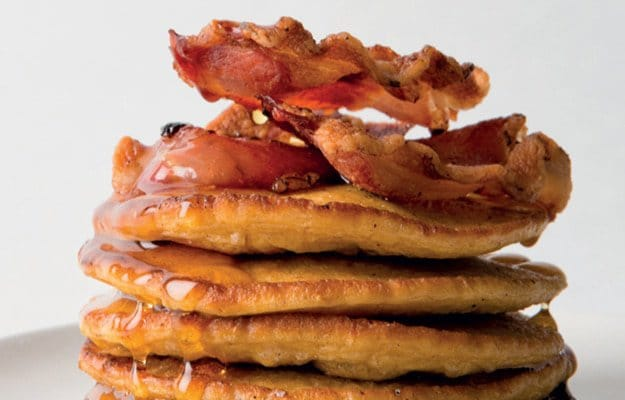 Flapjacks with bacon