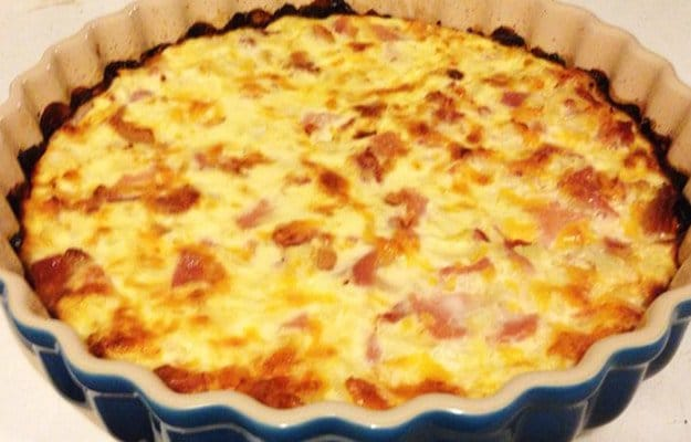 a bacon and cheese quiche