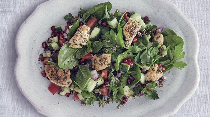 Chicken za'atar salad for a weekend braai