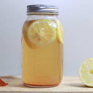 Detox drink with lemon