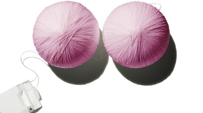Two balls of wool to represent his crown jewels