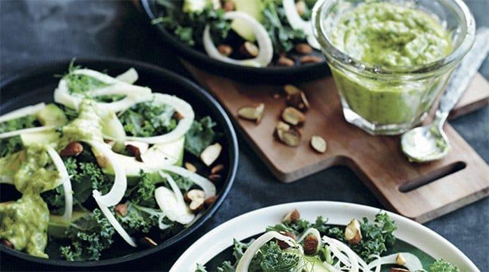 kale vegan dinner salad