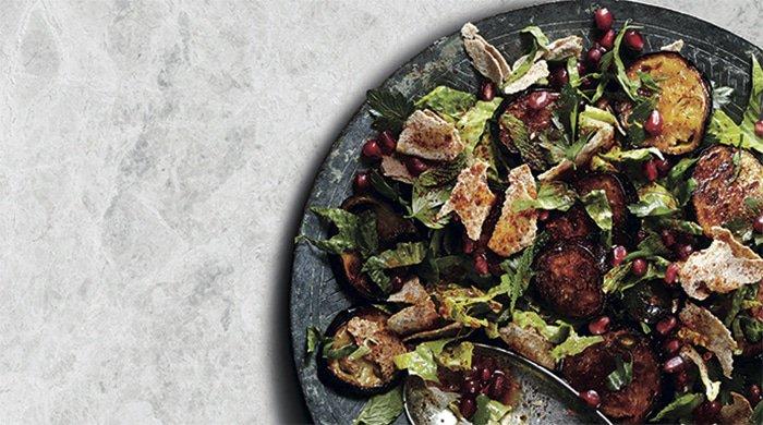 vegan dinner fattoush