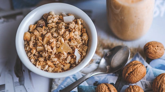 coconut granola that tastes like a tropical cocktail