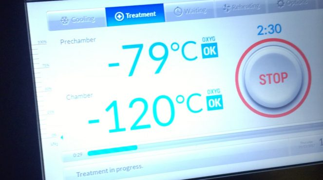 Cryotherapy: -120 degrees in just a sports bra?