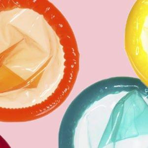 colourful condoms