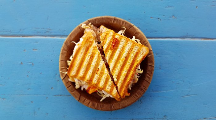 A grilled cheese sandwich isn't a good idea when you're counting kilojoules