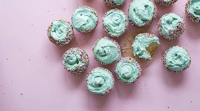 cup cakes that have been baked using egg substitutes