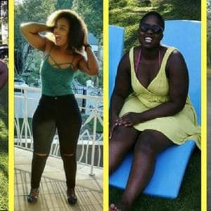 Reaneste stuck to her weight-loss goals and lost over 20 kilos