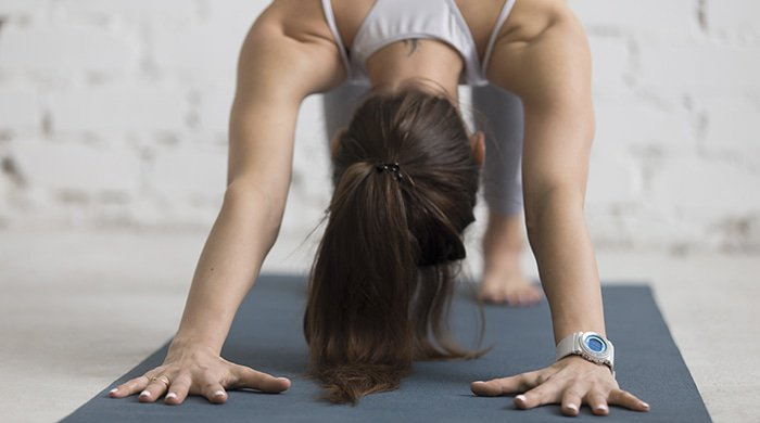 woman gaining weight despite the fact that she does yoga every day