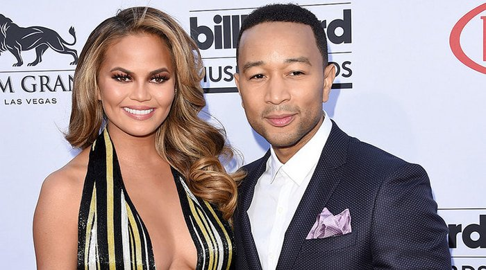 Chrissy and John Legend on the red carpet