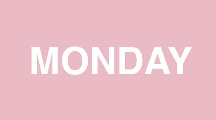 Monday slim-down plan
