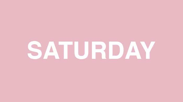 Saturday slim-down plan