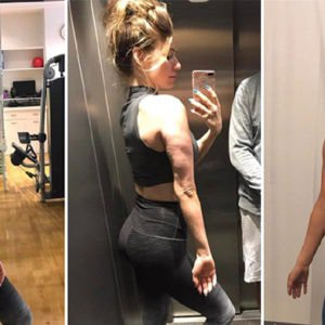 Fitness blogger, Anna Victoria, shares different selfies