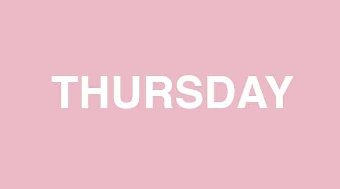 Thursday slim-down plan