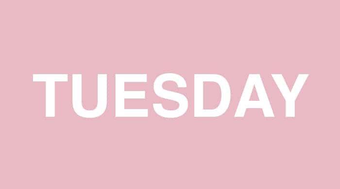Tuesday slim-down plan