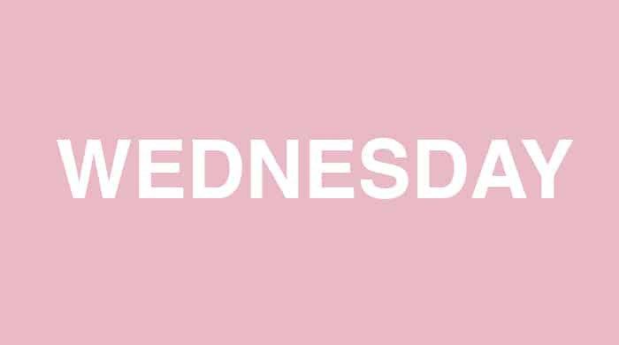 Wednesday slim-down plan