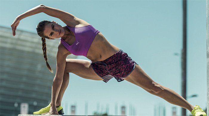 A woman doing a workout to get rid of armpit at