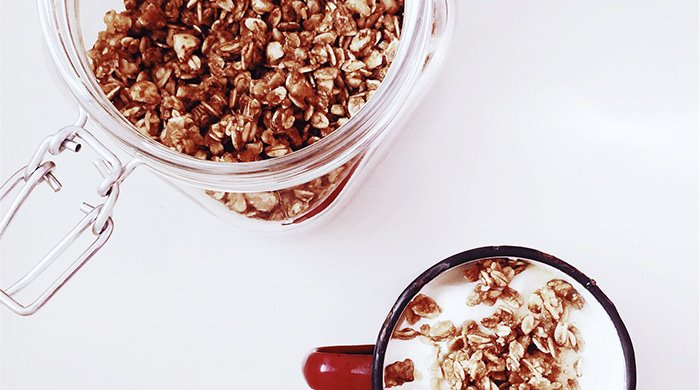 Muesli that you can buy from a coffee shop