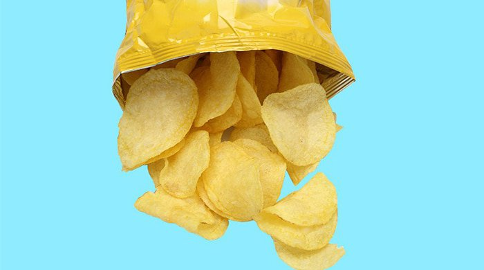 we tend to grab a bag of chips when we're hungry