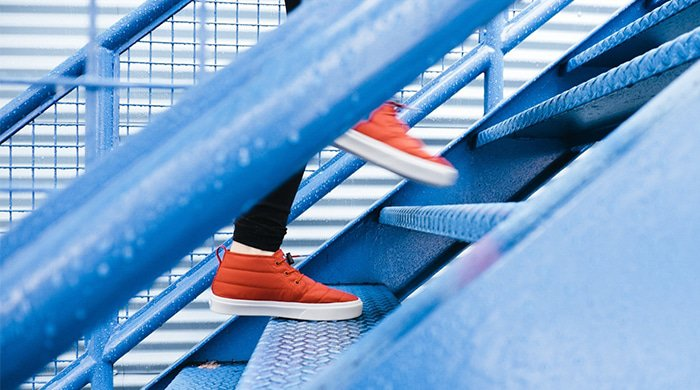 climbing stairs can be a good workout