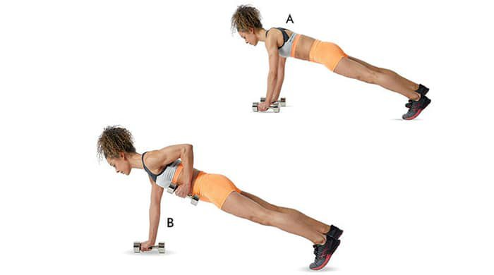 renegade rows help strengthen back muscles