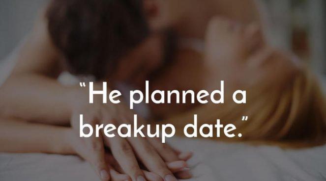 A couple having breakup sex