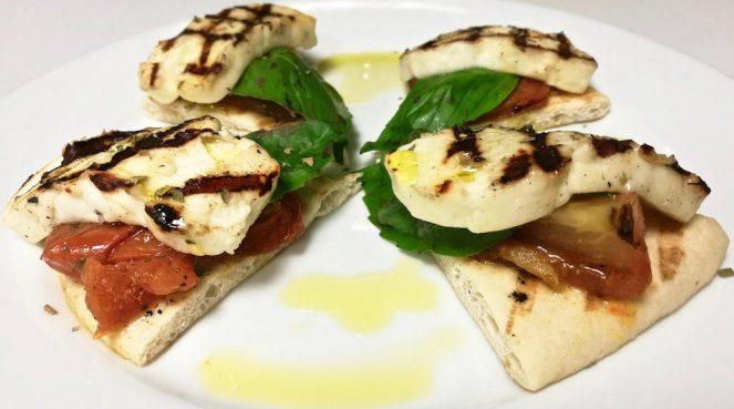 grilled mediterranean cheese