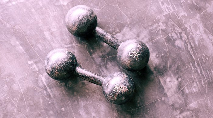 dumbbells for a home workout