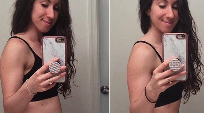 This fitness blogger proves that even people with abs experience bloating